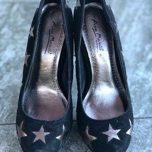 Anne Michelle black pumps with stars ⭐️